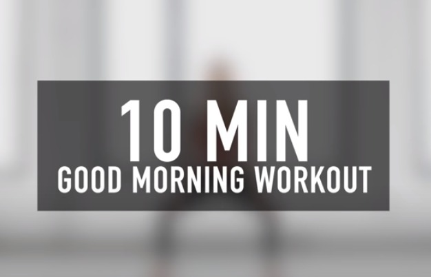 10-minute good morning workout